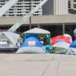 Tent City at the start of the pandemic