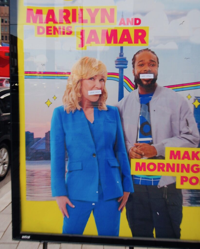 Marilyn and Jamar poster annoys North Toronto residents